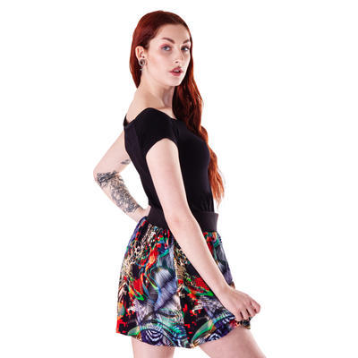 Černé tričko s krátkým rukávem Marika - 2