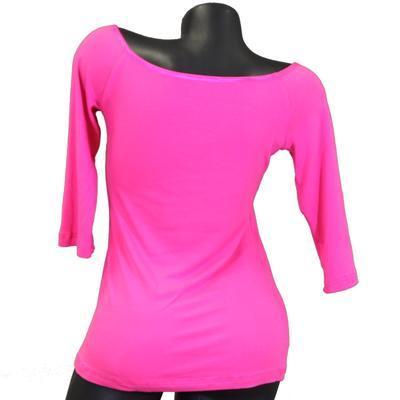 Růžové tričko s midi rukávem Klaudie - 2