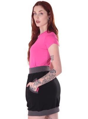Černorůžová bavlněná sukně Rozalie - 2