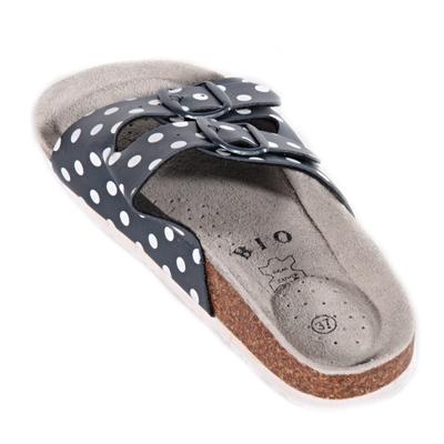 Retro dámské pantofle Leny modré - 2