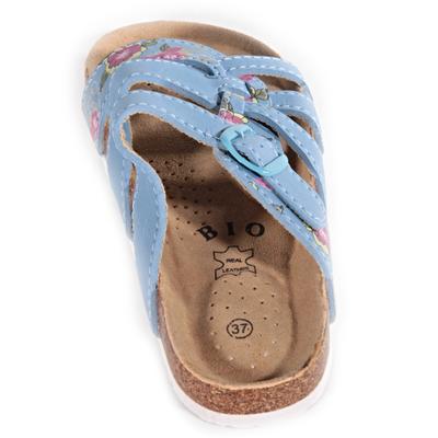 Květované pantofle Bruno světle modré - 2