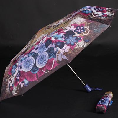 Skládací dámský deštník Megan fialový - 2