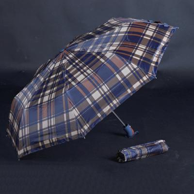 Pánský skládací deštník Alan hnědý - 2