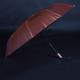 Luxusní dámský skládací deštník Darsi hnědý - 2/2
