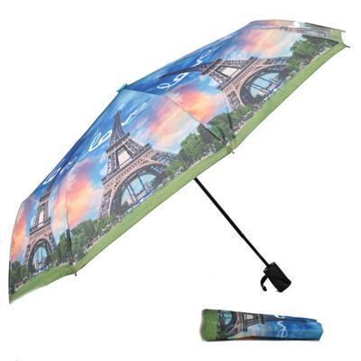 Luxusní skládací deštník Henry motiv Eiffelova věž - 2