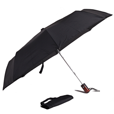 Pánský skládací černý deštník Mateo - 2