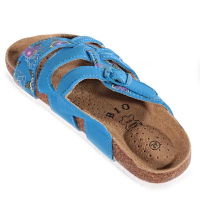Květované pantofle Bruno modré - 2