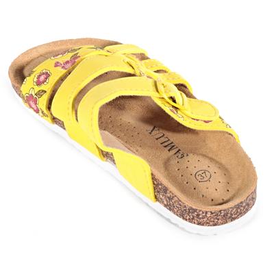 Dámské květované pantofle Bruno žluté - 2