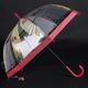 Automatický průhledný dámský deštník Dean červený - 2/2