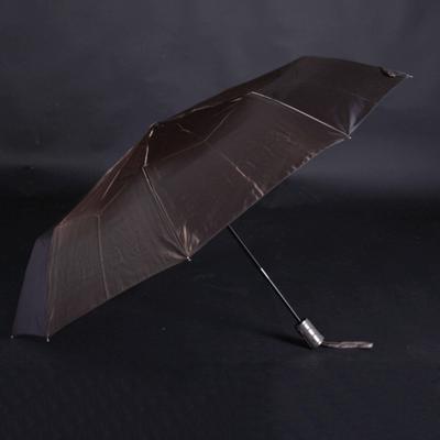Luxusní dámský skládací deštník Kim tmavě hnědý - 2