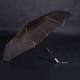 Luxusní dámský skládací deštník Kim tmavě hnědý - 2/2