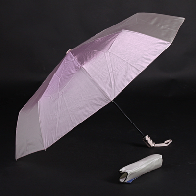 Luxusní dámský skládací deštník Kim světle růžový - 2
