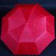 Jednobarevný skládací deštník Lejla červený - 2/2