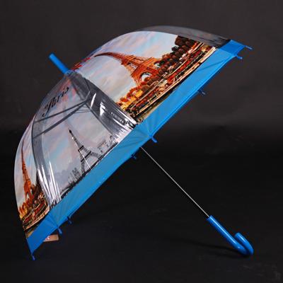 Automatický průhledný dámský deštník Dean modrý - 2