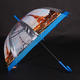 Automatický průhledný dámský deštník Dean modrý - 2/2