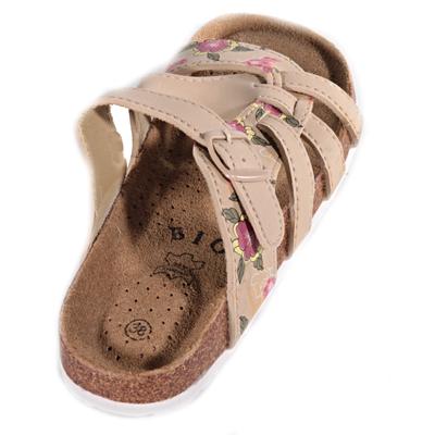 Květované pantofle Bruno béžové - 2