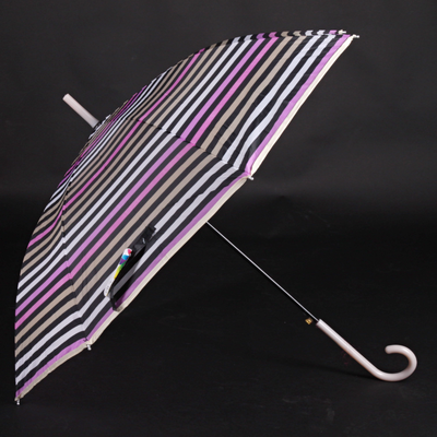 Pruhovaný deštník Dora hnědý - 2