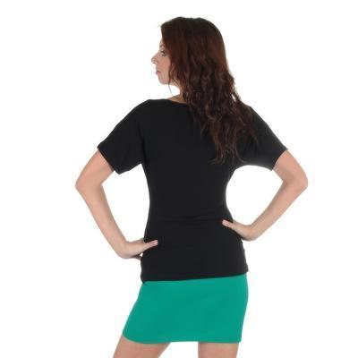 Černé tričko s krátkým rukávem Diana - 2