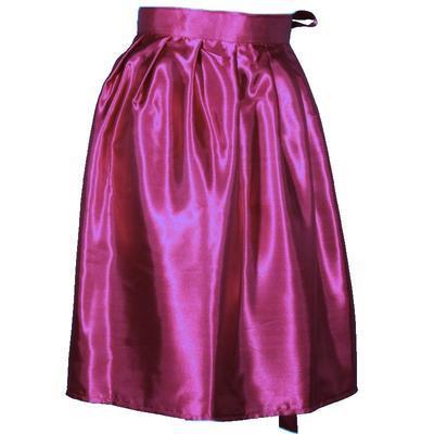 Tmavě růžová saténová zavinovací sukně Victorie - 2