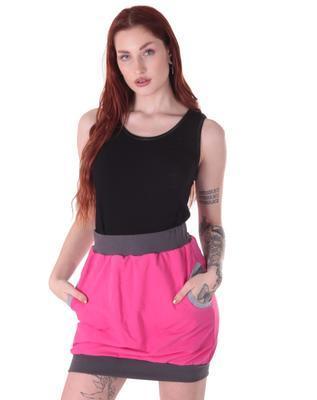Růžová bavlněná sukně Rozalie - 2