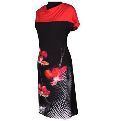 Černé šaty Aylin s potiskem - 2