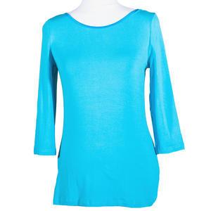 Modré tričko s midi rukávem Mia - 2/3