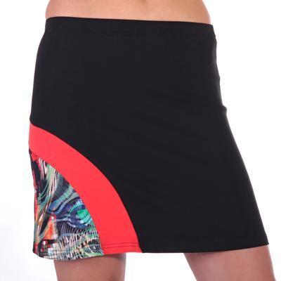 Stylová černá sukně s potiskem Liem  - 2