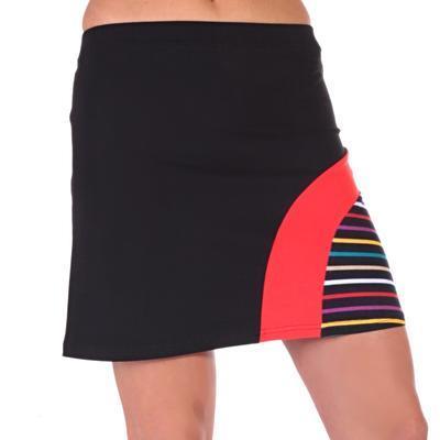 Moderní černá sukně s potiskem Rose - 2