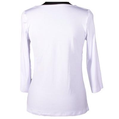 Bílé tričko s midi rukávem Miranda  - 2