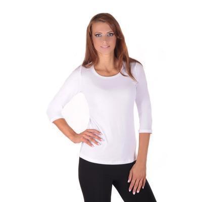 Bílé tričko s midi rukávem Kristin - 2