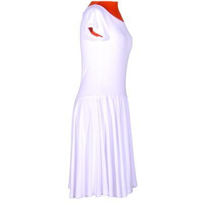 Bílé jednobarevné šaty Zaira - 2