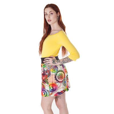 Barevná balounová sukně Karin s potiskem - 2