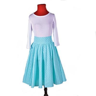 Dámská retro sukně Blue modrý puntík - 2