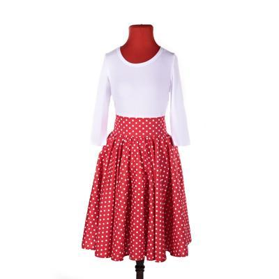Retro dámská sukně Red červený puntík - 2