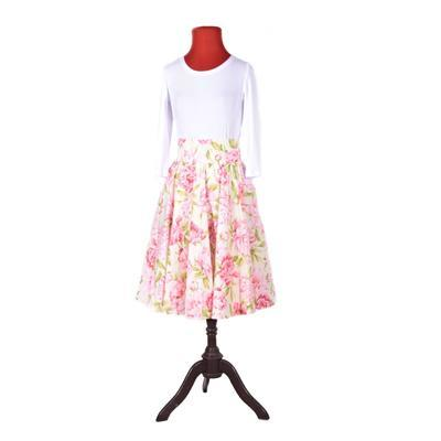Květovaná retro dámská sukně Pivoňky  - 2
