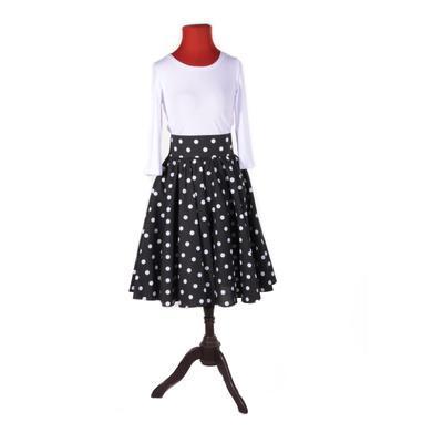 Retro dámská sukně Black černý puntík - 2