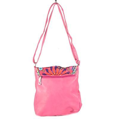 Stylová dámská kabelka Erika růžová - 2