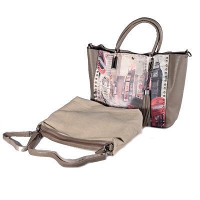 Atraktivní dámská kabelka Rosi šedá - 2