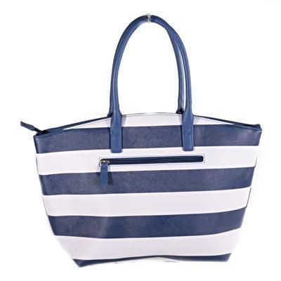 Pruhovaná dámská kabelka Lerry modrá - 2