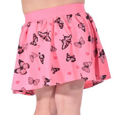 Dětská sukně s motýlama Stela světle růžová - 2