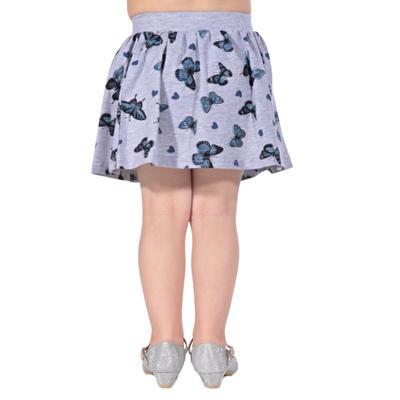 Dětská sukně s motýlama Stela šedá - 2