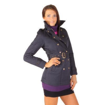 Modní prošívaný kabát Leontyn - 2