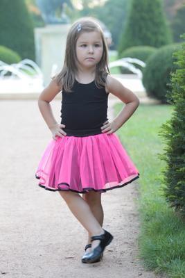 Dívčí neonově růžová tutu sukně Nesy  - 2