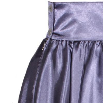 Tmavě šedá saténová sukně s pevným pasem Kimberly - 2