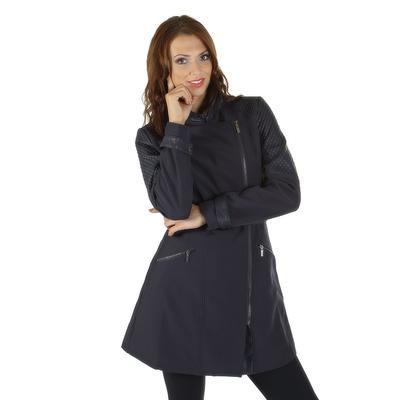 Softshellový modrý kabát Valery - 2