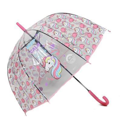 Dětský vystřelovací deštník Unicorn světle růžový - 2