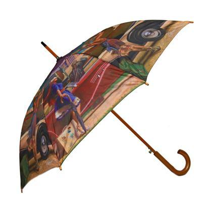 Luxusní dámský vystřelovací deštník Mariana - 2