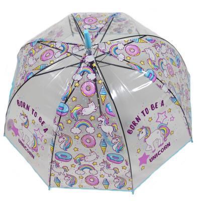 Dětský vystřelovací deštník Unicorn modrý - 2