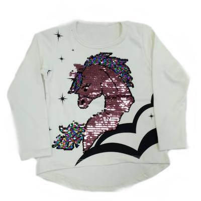 Bílé měnící tričko Billy s jednorožcem - 2