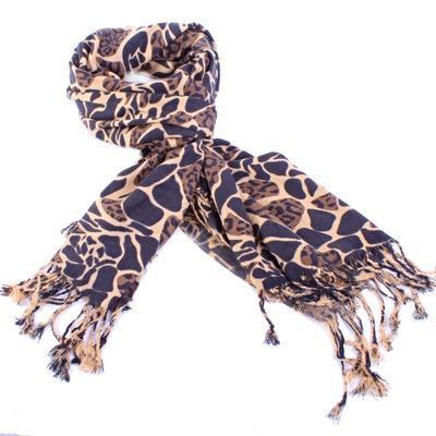 Široký tmavě hnědý šátek Nena C2 - 2